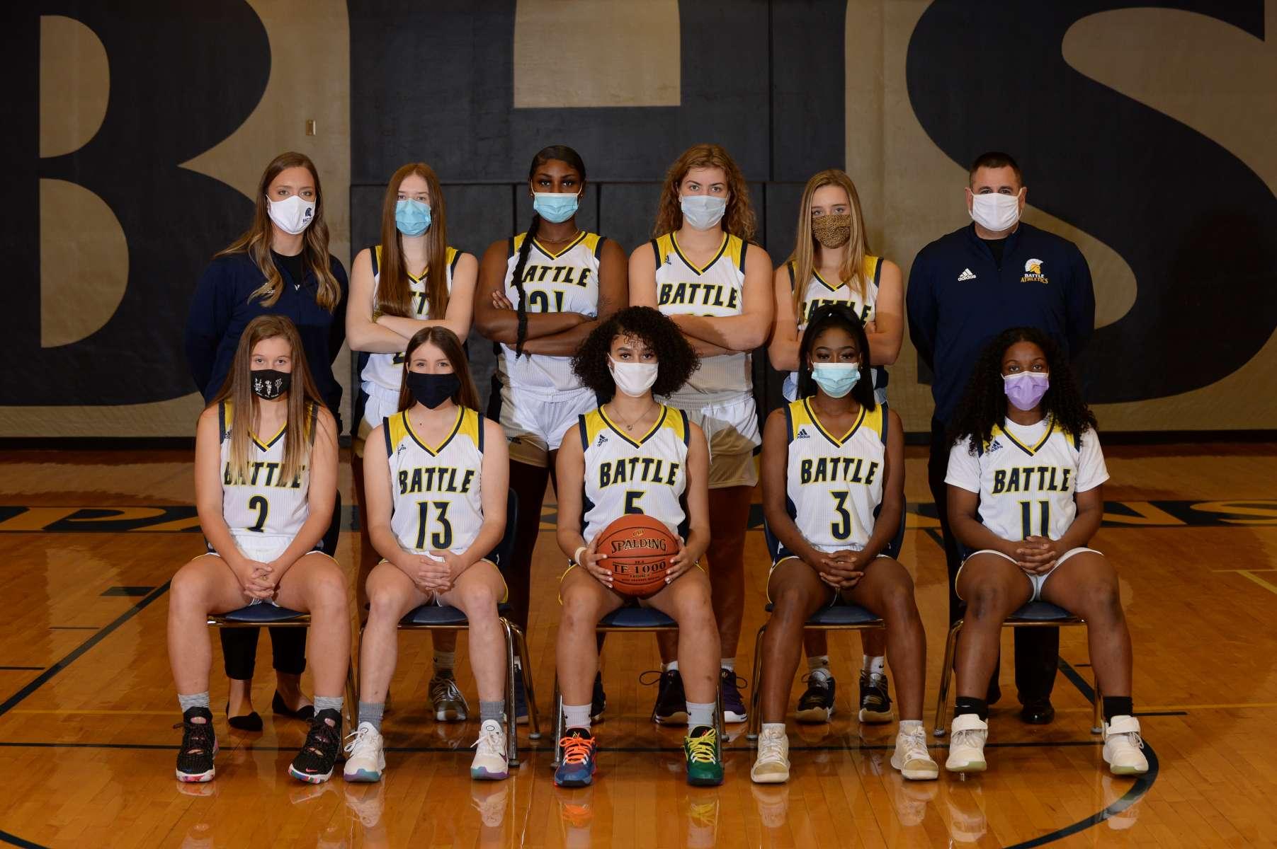 Girls Basketball Team Photo